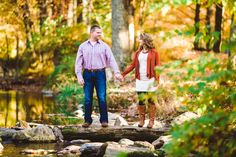 Caledonia state park engagement photo idea