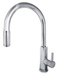 Milano FOR711pn Forza Deck Mounted Single Hole Kitchen Faucets With Pull Out Spray In Polished Nickel