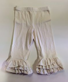 Look what I found on #zulily! Cream Ruffle Capri Pants - Infant, Toddler & Girls by ApPEARel TREE #zulilyfinds