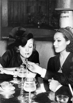 Marlene Dietrich and Dolores Del Río, 1939.