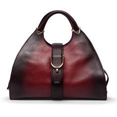 Gucci Ltd Ed Red Gradient Ombre Stirrup Hobo Bag