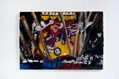 Rodrigo Andrade - 2012 |  Versão sobre a obra de Ranchinho Circo- 1989 |  Óleo sobre tela sobre mdf |  40 x 60 cm