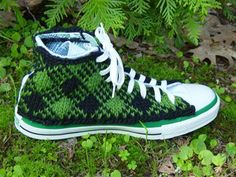 Hand-Knitted Converse Shoes | Fun is 2 cool