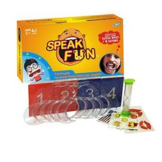 Mouthguard Challenge Game Speak Fun Party Game Cheek Retractor Mouthpiece Game Phrase Card Board Game for Family Game  HOWADE * You can find out more details at the link of the image. Note:It is Affiliate Link to Amazon.