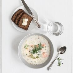 Creamy Salmon Soup   Main Courses   Pentik recipes  