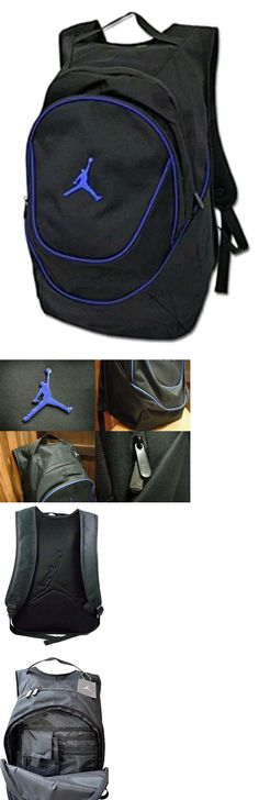 00bc6dd7e239 Backpacks Bags and Briefcases 52357  New Jordan Nike Air Backpack Black  Blue Book Bag Laptop Sleeve 9A1118-383 -  BUY IT NOW ONLY   37.25 on eBay!