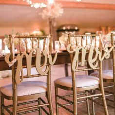 """""""Mr & Mrs"""" wedding chair signs are the most stylish choice for your wedding chair decor, table decor, or even for your wedding photos. This gorgeous wedding sign set says """"Mr & Mrs"""" and is cut to prec Wedding Chair Signs, Wedding Chairs, Table Wedding, Wedding Cake, Wedding Gifts, Church Wedding, Bridal Gifts, Party Wedding, Wedding Season"""