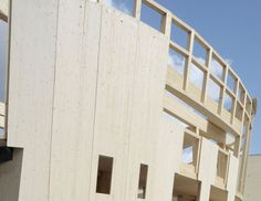 Eurban are specialists in solid timber construction with particular expertise in cross laminated timber (CLT) construction. Construction Images, Construction Sector, Wooden Facade, Wooden Buildings, Timber Structure, Timber Frames, Wood Laminate, Innovation, Gardens