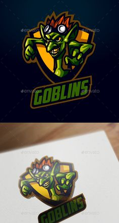 A Resfreshing Logo Design Perfect for your sports/esports team. Everything is editable, scalable and ready to print. Documentation included inside mainfile. search tag: #Esports #Goblin #Logo - #Sports Logo #Templates