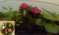 Little garden mushroom. Cold porcelain and red nail lacquer.