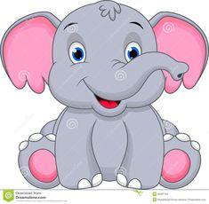 Cute Baby Elephant Cartoon Stock Images - Image: 36081704 Baby Elephant Drawing, Cute Elephant Cartoon, Cute Baby Elephant, Little Elephant, Baby Cartoon, Cute Cartoon, Cartoon Photo, Cartoon Cartoon, Baby Elephants