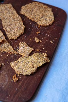 This crackerlike Swedish bread made with sesame and sunflower seeds is a crunchy platform for gravadlax or pickled herring. Versions of knäckebröd have been enjoyed in Sweden since antiquity; it's an essential component of Midsummer celebrations.