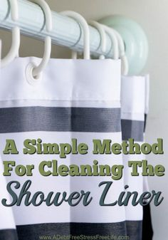 Have you ever stayed over a friend or relatives home only to wake up in the morning to hit the shower and be confronted with an onslaught of mold and mildew on the shower liner? Most people clean their shower liner by removing it and throwing it away.  But that can be very costly if you're replacing a shower liner ever month.  Here's a real simple cleaning method that will save you time and money.