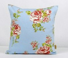 This is for one 16 inch x 16 inch Blue English Rose double sided cushion cover. This cushion cover comes in a Blue English Rose fabric on both sides of the cushion cover. With an invisible zip which is at the bottom of the cushion cover, This give a st. Shabby Chic Throw Pillows, Blue Throw Pillows, Floral Pillows, Diy Pillows, Throw Pillow Cases, Pillow Shams, Clarke And Clarke Fabric, Bee Design, Design Shop