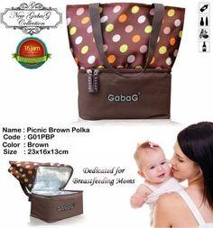 Cooler Bag ASI Gabag Picnic Brown Polka http://coolerbagasimurah.com/cooler-bag-asi/cooler-bag-asi-gabag-picnic-brown-polka/