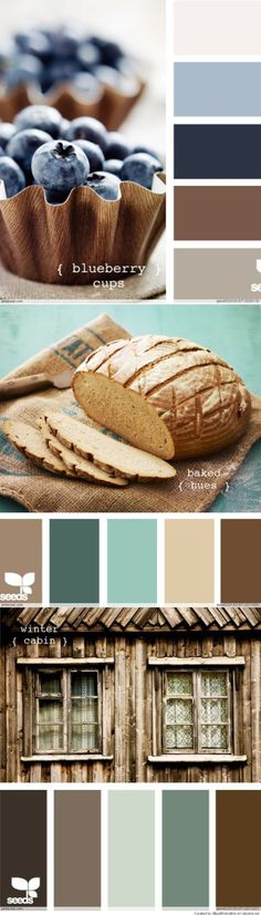 Love the bread color way - substitute the dull teal for bright accent pops of turquoise Kitchen/breakfast?