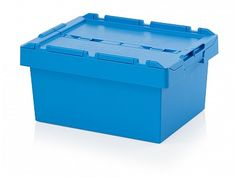 35 Litre Stack - Nest Attached Lid Container - Lidded Plastic Storage Box