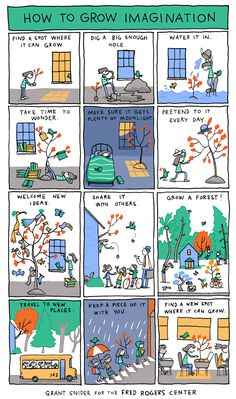 How To Grow Imagination by Grant Snider