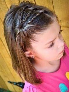 Mädchen-Frisuren für Kinder # Frisuren - Mode fille: toutes les idées et les tendances Little Girl Haircuts, Baby Girl Hairstyles, Princess Hairstyles, Hairstyles For School, Cute Hairstyles, Braided Hairstyles, Hairstyle Ideas, Gorgeous Hairstyles, Teenage Hairstyles