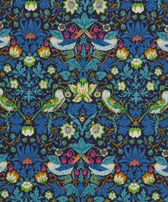 Liberty Art Fabrics Strawberry Thief J Tana Lawn Cotton William Morris print Textiles, Textile Patterns, Textile Design, Print Patterns, Fun Patterns, Liberty Art Fabrics, Liberty Of London Fabric, Liberty Print, Art Nouveau