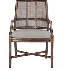 McGuire Furniture: Hayes Dining Arm Chair: M-321
