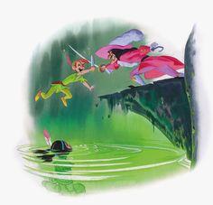 Deja View: Disney Book Illustrations #PeterPan #CaptainHook #TigerLily