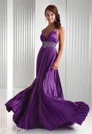 Beautiful Purple Bridesmaids Dress