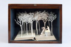 Increíble arte hecho a partir de libros viejos | Buendiario
