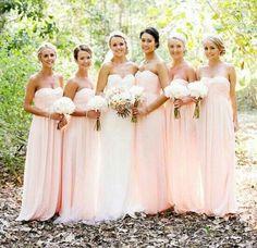 Pastel bridesmaid