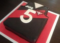 AFL Bombers jersey cake Harry Birthday, Boy Birthday Parties, 60th Birthday, Birthday Cakes, Party Themes For Boys, Disco Party, Themed Cakes, Party Cakes, Football Cakes