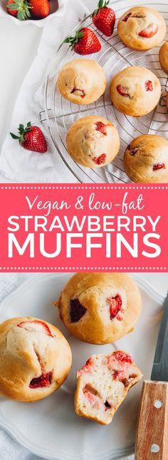 low fat strawberry muffins vegan gluten free option low fat vegan ...