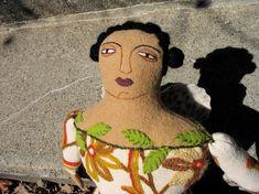 Fiber art doll