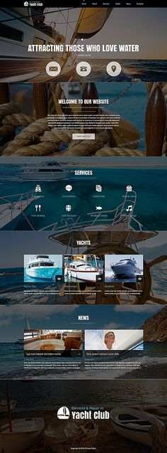 Template 51835 - Yacht Club Responsive Joomla Template with Slider, Gallery, Blog and Forum