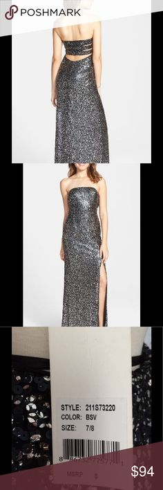 Hailey Logan Sequins Strapless Gown Size 7/8 Gown Hailey Logan Sequins Strapless Gown Size 7/8 Gown Hailey Logan Dresses Strapless