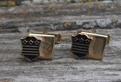 Vintage Star & Shield Cufflinks. Gift for Men, Dad, Grad, Groom, Groomsmen, Anniversary, Birthday. by LittleLinkShop on Etsy