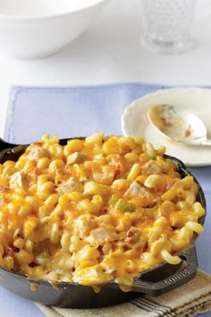 King Ranch Chicken Mac and Cheese - Freezable Meals That We Should be Calling Superheroes - Southernliving. Recipe: King Ranch Chicken Mac and Cheese  This top-rated, freezer-friendly casserole combines the flavors of two classics – King Ranch Chicken and Mac and Cheese.  Wait until bake time to sprinkle with cheddar cheese. Freeze this hearty favorite in lidded bakeware for easy transport between oven, freezer, and fridge.