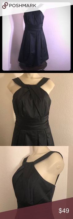 💋Little Black Cocktail Dress David's Bridal Sz 4 This is the perfect little black dress to add to your closet! Check out the neckline, the skirt, the waistline, the detail of the bodice! Fully lined with polyester. Hidden back zipper with hook and eye closure.  Sz. 4 by David's Bridal  Shipped from a smoke and pet free environment. David's Bridal Dresses