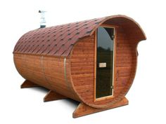 This post brings out important factors to consider when buying a barrel sauna. Such as: wall thickness, doors, support legs, bands, etc. Barrel Sauna, Sauna Room, Cool Roof, Roofing Materials, Play Houses, Factors, Stuff To Buy, Fun Things