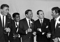 The Rat Pack - Peter Lawford, Sammy Davis, Jr., Frank Sinatra, Joey Bishop, Dean Martin