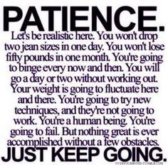 Patience is definitely learned and is a trait that I'm continually working on.