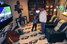 Jovon would love a Falcons chair and the carpet Falcons! man cave ideas - Bing Images