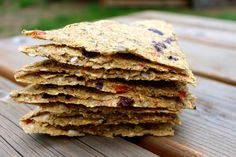 Raw Italian Flaxseed Crackers