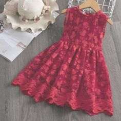 Girl Dress Kids Dresses For Girls Mesh Casual Lace Embroidery Princess Baby Girl Clothes Summer Sleeveless Dress Kids Clothes - Kleidung Girls Formal Dresses, Toddler Girl Dresses, Little Girl Dresses, Infant Dresses, Red Flower Girl Dresses, Bride Dresses, Satin Dresses, Maternity Dresses, Bridesmaid Dresses