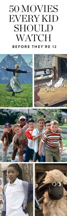 50 Movies Every Kid Should Watch Before They Turn 12 #purewow #family #entertainment