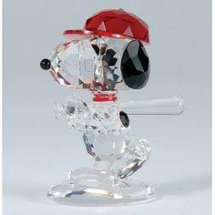 Crystal World Peanuts Home Run Snoopy Figurine