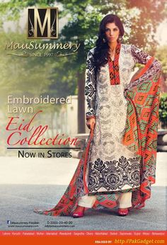 Embroidered Mausummery Lawn Eid Catalog of Casuals - Gul Ahmed, Firdous Lawn, Sana Safinaz, Swiss Lawn