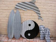Upcycled corrugated iron