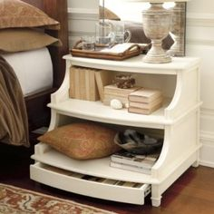 Awesome dresser inspired nightstand.