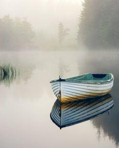 """Loch Rusky morning mist..."""" by David Mould, via 500px."""