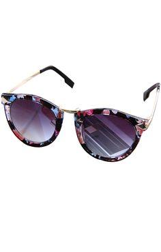 vintage floral sunglasses